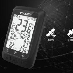 Ciclo computador inalámbrico ANT+/Bluetooth 5.0 CooSpo, GPS, IP67 por 39,59€ antes 65,99€.