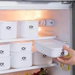 4 conservadores herméticos de plástico sin BPA (0.7L/ 0.9L/ 1L/ 1.4L) aptos para microondas por 8,50€ antes 24,99€.