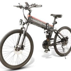 Bicicleta de montaña eléctrica plegable Sawake, motor 500W o 350W sin escobillas, panel led, 21 velocidades, por 779€ en Amazon antes 919€.