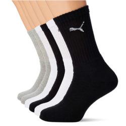 6 Pares de calcetines Puma Sport Cush Crew por sólo 11,65€.