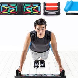 Push Up Board 12 en 1 para entrenar el tren superior+2 bandas elásticas por 16,59€ antes 26,99€.