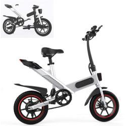 Bicicleta eléctrica plegable con pedales N&P Y1, motor sin escobillas 350W, 6v/10AH/25km, IP54 por 300€ en Amazon, antes 429,99€.