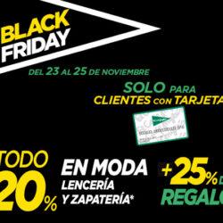 Black Friday en el Corte Inglés: 20% en moda y calzado y además cupón con el 25% de la compra para clientes con tarjeta