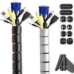 Conjunto de organizadores para cables Wukong por 9,79€.