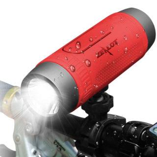 Luz frontal para bici con altavoz bluetooth CSR, 4000mAh powerbank, micro por 11,04€.