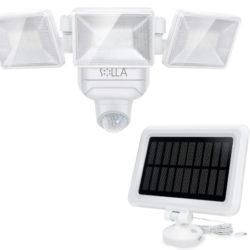 Foco solar exterior con 3 paneles y sensor de movimientos orientable, uso con batería recargable o pilas, IP65 por 19,99€ antes 39,99€.
