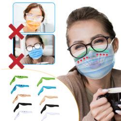 2 soportes anti-vaho para mascarillas y evitar el empañamiento de las gafas (funciona) por 1,10€; en Amazon 5 por 8,99€.