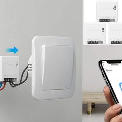 2 interruptores inteligente bidireccionales Sonoff compatibles con Alexa/Google por 12,34€.