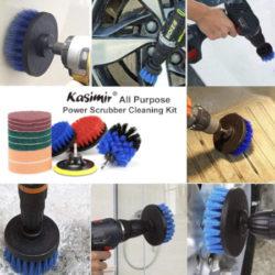 Juego de cepillos y accesorios de limpieza para taladros eléctricos por 14,41€.