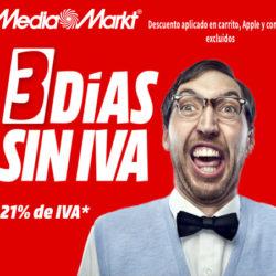¡Últimas horas del Día Sin IVA en Mediamarkt! Aún tienes hasta las 9 de la mañana.
