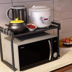 Soporte extensible para horno o microondas (soporta 15kg.) por 31,99€ con código.