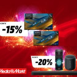 ¡Sólo 48 horas! Descuentos de hasta un 20% en televisores, auriculares y altavoces Sony en Mediamarkt.