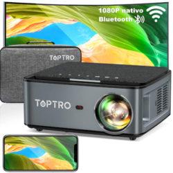 Proyector wifi/bluetooth 5.0 Toptro X1, 7500 Lúmenes, Full HD, 4K por 156,74€ antes 276,98€.