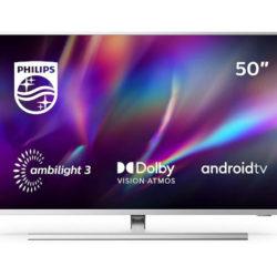 "Televisor Philips 70PUS8555/12 Ambilight, 70"", 4K, Android 9.0 Pie, control por voz, Dolby Vision, Dolby Atmos por 783,20€ antes 1.299€."