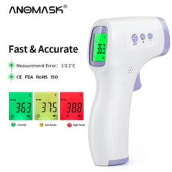Termómetro infrarrojo, lectura en frente, ambiente y objetos por 4,30€.