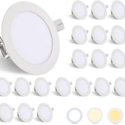 Solo hoy; 20 focos led para techo, 6W/540LM, IP44, color regulable por 47,59€ antes 69,99€.