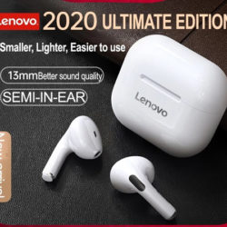 Auriculares TWS BT 5.0 Lenovo LP40 especial juegos con driver de 13mm. y baja latencia control tactil por 10,93€ antes 25,98€.