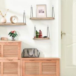 3 estanterías para pared decorativa rústicas por 9,99€ antes 19,99€.