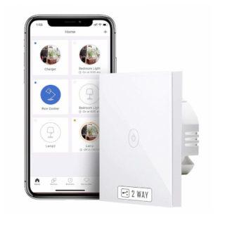 Interruptor táctil Wi-Fi meross compatible con Alexa, Google y SmartThings por 9,99€ antes 25,99€.