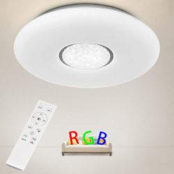 Plafon con iluminación RGB 36W/3600lm con control remoto por 20,99€ antes 41,99€.