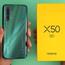 """Realme X50, 5G, 6.77"""", 8/256GBGB, 4200mAh con carga ultra rápida Dart de 30W por 349,00€ en Amazon y 6/128GB por 193 en Plaza."""