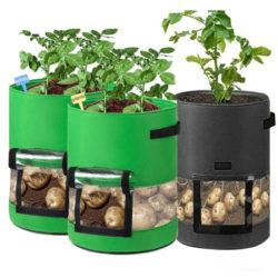 3 bolsas para cultivar patatas, zanahorias, tomates, cebollas y todo tipo de plantas (26L unidad) por 9€.