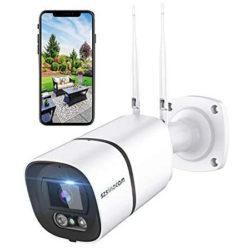 Cámara de vigilancia Wifi para exteriores con visión nocturna y detección de movimientos, audio bidireccional, IP66, Alexa por 23,99€ antes 39,99€.