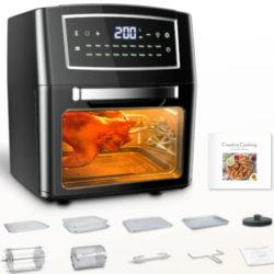 Horno-Freidora sin aceite XL 12 litros BSJKitchen, 1500W, 18 programas, función Keep Warm por 79,99€ antes 159,99€.