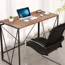 Mesa auxiliar escritorio plegable, 100x50x75cm por 29,99€ antes 59,99€.