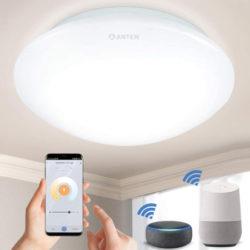 Plafón de techo inteligente WiFi, 24W, compatible con Alexa, Google Home por 20,99€ antes 41,99€.