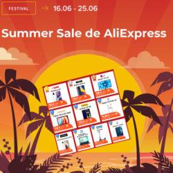Promoción de verano en Aliexpress, la respuesta al Prime Day de Amazon. Listado completo de los 300 mejores chollos y cupones renovados.