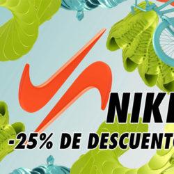 ¡Último día! Descuentos de hasta un 40% y cupón del 25% extra en TODO Nike incluyendo artículos rebajados.