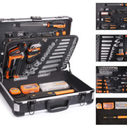 Maletín/caja de herramientas de aluminio Tacklife con 136 herramientas por 69,99€ antes 119,99€.