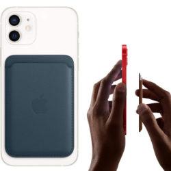 Cartera de cuero azul o amapola MagSafe Wallet para iPhone por 32,50€ antes 63,71€.