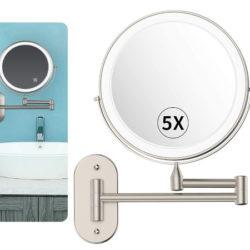 Espejo de pared con luz led y aumento x5 por 7,99€ antes 31,99€.