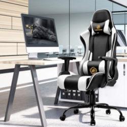 Silla de escritorio/gaming acolchada, disponible en 4 colores por 101,99€ antes 169,99€.