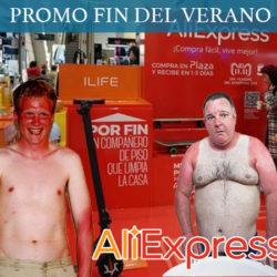 Último dia: Promoción Fin del Verano en Aliexpress. Nuevos cupones de hasta 58 euros para TODO. Reactivados todos los cupones.