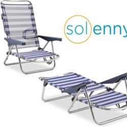 Silla/tumbona Solenny, 4 posiciones por 28,55€.