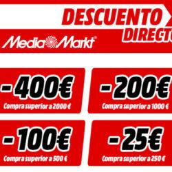 Vuelve el descuento directo a Mediamarkt. ¡Hasta 400 euros!