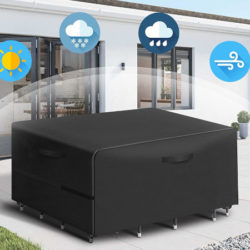 Funda de tela impermeable para muebles de jardín 180x120x74cm por 13,49€ antes 26,49€.