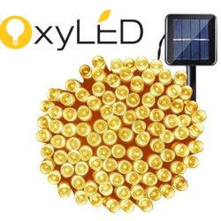Tira de guirnaldas luminosas (22M) alimentadas por luz solar, IP65 por 7,49€.