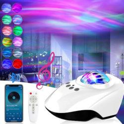 Proyector de estrellas con 14 modos de iluminación, reproductor bluetooth, temporizador por 14,81€ antes 38,99€.