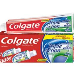 4 Envases de pasta de dientes Colgate Triple Acción (4x75ml) por sólo 2,97€.