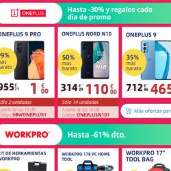 Cada día a las 4 de la tarde o a las 10 de la noche te puedes llevar un OnePlus 9 PRO por 1 euro o con descuentos de hasta el 50% en Aliexpress