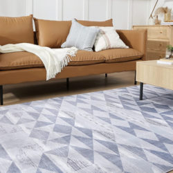 Alfombra de salón estilo nórdico Bedsure 120x170cm, gris/blanco por 22,43€ antes 40,99€.