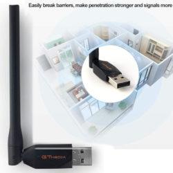 Dongle GTMEDIA 150Mbps para receptores satélite por 8,99€.