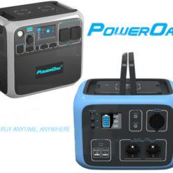 Generadores solares portátiles PowerOak Bluetti AC200P por 1699,99€; PowerOak AC50S por 458,99€.