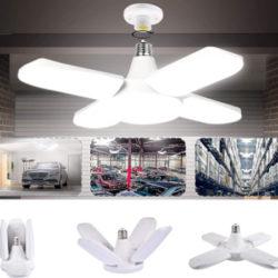 Luz de garaje 60W/6000 lúmenes, luz blanca natural regulable con 4 paneles ajustables (6000/6500k) por 11,99€.