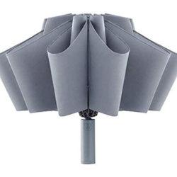 Paraguas plegable con apertura/cierre invertido/automático, secado rápido, linterna led , tejido Anti-UV por 10,39€.