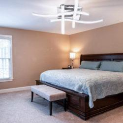 Lámpara plafón de techo decorativa, 24W por 31,99€.